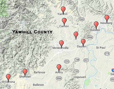 Yamhill County Map